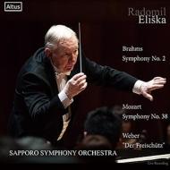 Brahms Symphony No. 2, Mozart Symphony No. 38, Weber : Eliska / Sapporo Symphony Orchestra