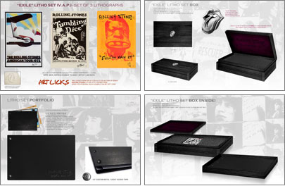 Rolling Stones ボックスセット: Exile Litho Set