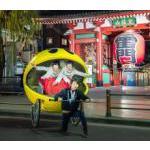 『パックマン』の人力車がクリスマスの浅草を駆け抜ける! 観光名所をめぐるナイトクルーズ参加者を募集開始!!