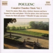 Complete Chamber Works Vol.1: Tharaud(P)bernold(Fl, Rec), Doise(Ob), Etc / Poulenc