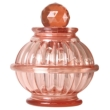 Bottle Lamp With Flameless Candle Shell Pink