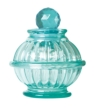 Bottle Lamp With Flameless Candle Aqua Blue