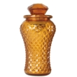 Bottle Lamp With Flameless Candle Amber