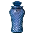 Bottle Lamp With Flameless Candle Sapphire