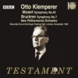 Bruckner Symphony No.7, Mozart Symphony No.40 : Klemperer / New Philharmonia (1965)(2CD)