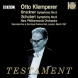 Bruckner Symphony No.5, Schubert Symphony No.8 : Klemperer / New Philharmonia (1967)(2CD)