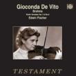 Violin Sonatas Nos.1, 3 : De Vito(Vn)E.Fischer(P)