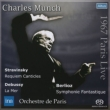 Berlioz Symphonie Fantastique, Debussy La Mer, Stravinsky Requiem Canticles : Munch / Paris Orchestra (1967 Stereo)(Single Layer)