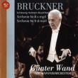 Symphonies Nos. 8, 9 : G.Wand / NDR Symphony Orchestra (1987, 88 Lubeck) (2CD) (Limited) / Bruckner (1824-1896)