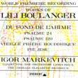 Psalm, 24, 129, Etc: Markevitch / Concert Lamoureux O