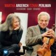 Schumann, J.s.bach, Brahms: Perlman(Vn)Argerich(P)