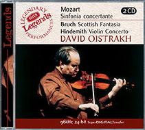 モーツァルト:協奏交響曲変ホ長調 K.364、ブルッフ:スコットランド幻想曲、ほか オイストラフ(Vn)、コンドラシンほか