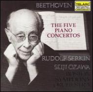 ベートーヴェン/Comp.piano Concertos: Serkin(P)ozawa / Bso