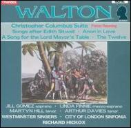 ウォルトン(1902-1983)/Christopher Columbus Suite Etc: Hickox
