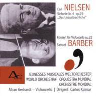 交響曲4 / チェロ協奏曲 Kalmar / Jeunesses Musivcales World.o、A.gerhardt(Vc
