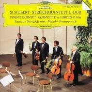 シューベルト(1797-1828)/String Quintet: Emerson Sq Rostropovich(Vc)
