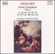モーツァルト(1756-1791)/Piano Variations Vol.1: Nicolosi