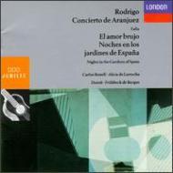 アランフェス協奏曲(ボネル、デュトワ&モントリオール響)、スペイン庭の夜(ラローチャ、フリューベック・デ・ブルゴス&ロンドン・フィル)
