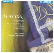 ハイドン:交響曲第24,22,30番 シェファード/カンティレーナ