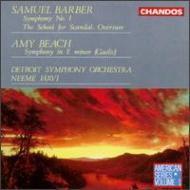 バーバー:交響曲第1番 N・ヤルヴィ/デトロイトSO