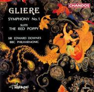 グリエール:交響曲第1番、赤いけしの花 ダウンズ&BBCフィル
