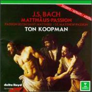 Matthaus-passion(Hlts): Koopman / Amsterdam Baroque.o, Kooy, Schlick