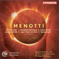メノッティ:バレエ音楽「セバスチャン」から組曲、交響詩「黙示録」ほか ヒコックス/スポレート祝祭管弦楽団