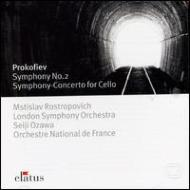 Sym.2, Sinfonia Concertante: Rostropovich, Ozawa / French National.o, Lso