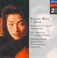 ヴァイオリン協奏曲集〜メンデルスゾーン、ベートーヴェン、チャイコフスキー、シベリウス チョン・キョンファ(2CD)