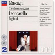 歌劇『カヴァレリア・ルスティカーナ』全曲、歌劇『道化師』全曲 プレートル&ミラノ・スカラ座、ドミンゴ(2CD)