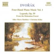 ピアノ連弾曲集Vol.1[伝説曲/ボヘミアの森より] マティーズ/ケーン