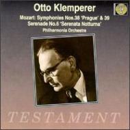 交響曲38、39、Etc Klemperer / Po