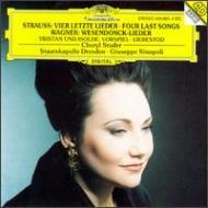 4つの最後の歌、ヴェーゼンドンク歌曲集 ステューダー、シノーポリ&シュターツカペレ・ドレスデン