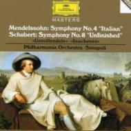 メンデルスゾーン:交響曲第4番『イタリア』 シューベルト:交響曲第8番『未完成』 シノーポリ&フィルハーモニア管