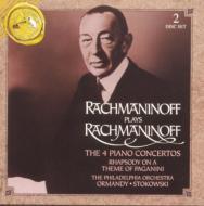 ラフマニノフ (1873-1943)/Comp. piano Concertos Paganini Rhapsody: Rachmaninov(P) Ormandy / Stokowski /