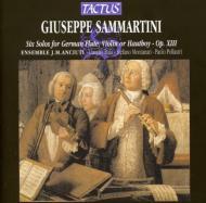 サンマルティーニ:トラベルソとヴァイオリンまたは通奏低音のための6つのソナタ/アンサンブル・J・M・アンチウティ