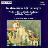 『リリー・ブーランジェの思い出に』 ナウモフ、シャルリエ、ラインハルト、サプリエ、他