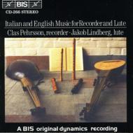 Italian & English Music For Recoreder & Lute: Pehrsson, Lindberg