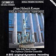 3 Violin Concerto, Sinfonias: Sparf / Orpheus Chamber.ens
