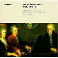 Piano Concerto.14, 15: Annerose Schmidt(P)masur / Dresden.po