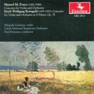 Violin Concerto: Cuckson(Vn)freeman / Czech National.so