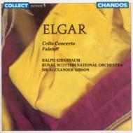 エルガー:チェロ協奏曲/交響詩「ファルスタッフ」 カーシュバウム/ギブソン