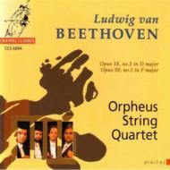 ベートーヴェン:弦楽四重奏曲第3番、第7番  オルフェウスSQ