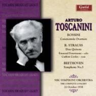 Sym.5 / Don Quixote: Toscanini / Nbc.so, Feuermann(Vc)('38.10.22)+rossini