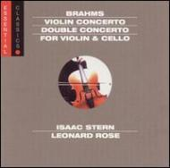 ブラームス(1833-1897)/Violin Concerto Double Concerto: Stern(Vn)rose(Vc)ormandy / Philadelphia.