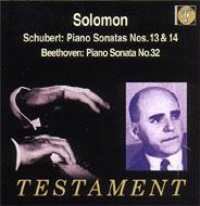 ピアノ・ソナタ集.13、14 / 32 ソロモン(P)
