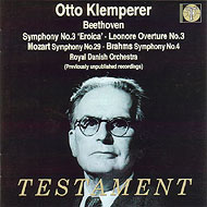 ベートーヴェン:交響曲第3番《英雄》、ブラームス:同4番、モーツァルト:同29番 クレンペラー&デンマーク王立歌劇場管(2CD)
