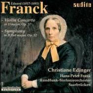 Violin Concerto, Symphony: Edinger(Vn)h-p.frank / Saarbrucken.rso