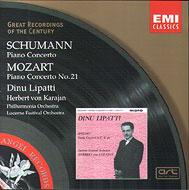 モーツァルト:ピアノ協奏曲第21番、シューマン:ピアノ協奏曲 リパッティ(p)、カラヤン&フィルハーモニア管