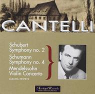 Sym.4 / 2 / Violin Concerto: Heifetz(Vn)cantelli / Nbc.so, Nyp
